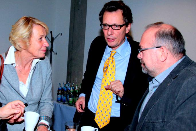 Die Mitglieder Sibylle Peters, Hans-Luidger Dienel und Martin Elbe auf dem Institutstag des IBBA/Herbsttagung der ABWF 2014